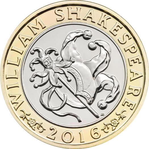 William shakespeare 2 pound coin