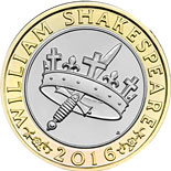 2 pound coin William Shakespeare - History  | United Kingdom 2016