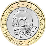 2 pound coin William Shakespeare  - Tragedy  | United Kingdom 2016
