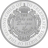 5 pound coin The Royal Birth of HRH Princess Charlotte of Cambridge | United Kingdom 2015