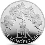 5 pound coin The Longest Reigning Monarch | United Kingdom 2015