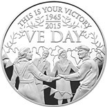 5 pound coin The 70th Anniversary of VE Day Alderney | United Kingdom 2015