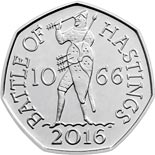 50 pence coin Battle of Hastings  | United Kingdom 2016