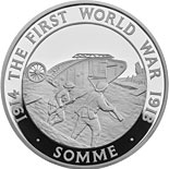 5 pound coin 100th Anniversary of The Battle of Somme | United Kingdom 2016