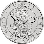 5 pound coin The Lion of England | United Kingdom 2017
