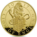 100 pound coin The Lion of England | United Kingdom 2017