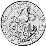 5 pound coin The Unicorn of Scotland | United Kingdom 2017