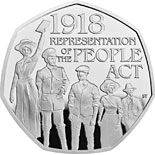50 pence coin 100th Anniversary of the Representation of the People Act | United Kingdom 2018