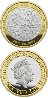 2 pound coin 100th Anniversary of the First World War Armistice | United Kingdom 2018