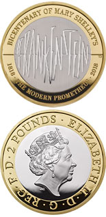 2 pound coin The 200th Anniversary of the publication of Frankenstein | United Kingdom 2018