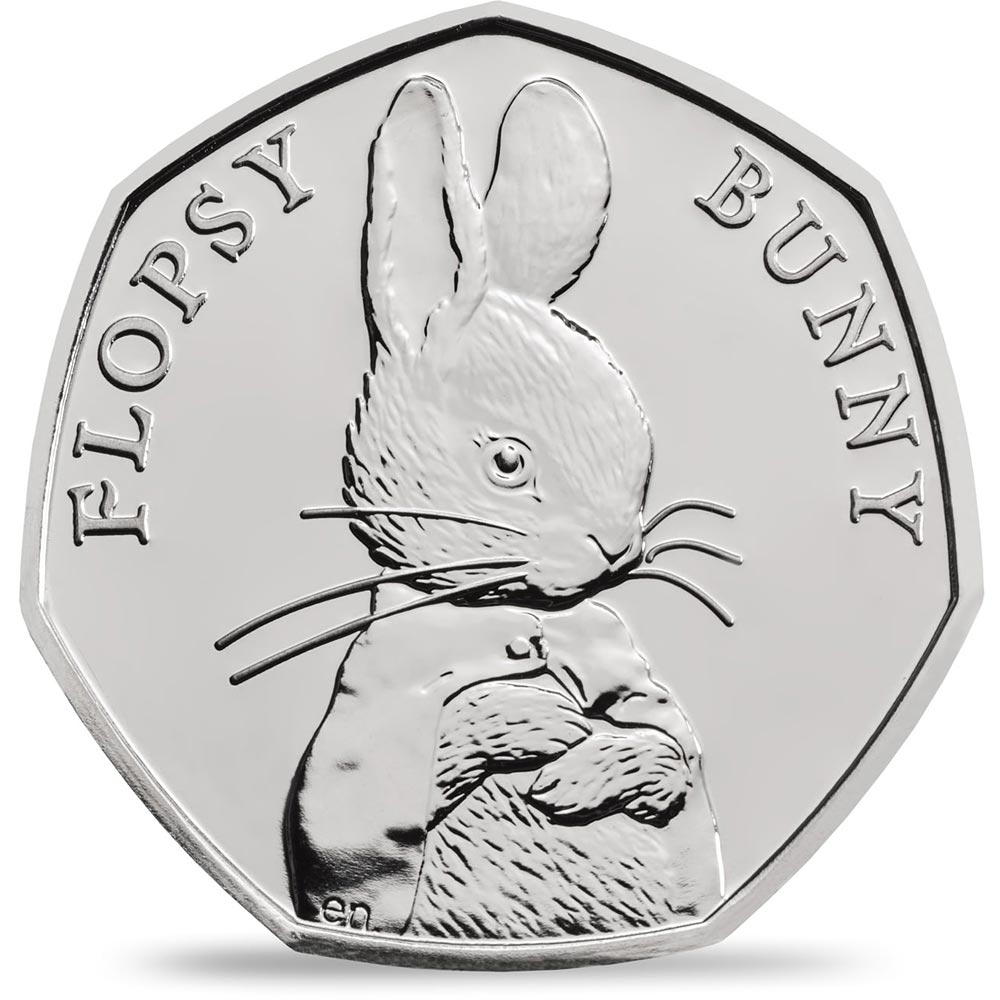 Image of 50 pence coin - Flopsy Bunny | United Kingdom 2018