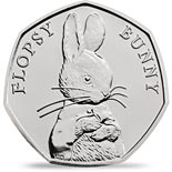 50 pence coin Flopsy Bunny | United Kingdom 2018