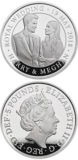 5 pound coin The Royal Wedding | United Kingdom 2018
