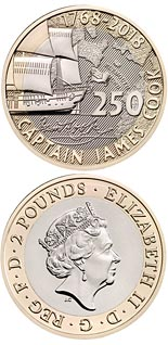 2 pound coin 250th Anniversary of Captain Cook's Voyage | United Kingdom 2018