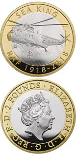 2 pound coin RAF Centenary Sea King | United Kingdom 2018