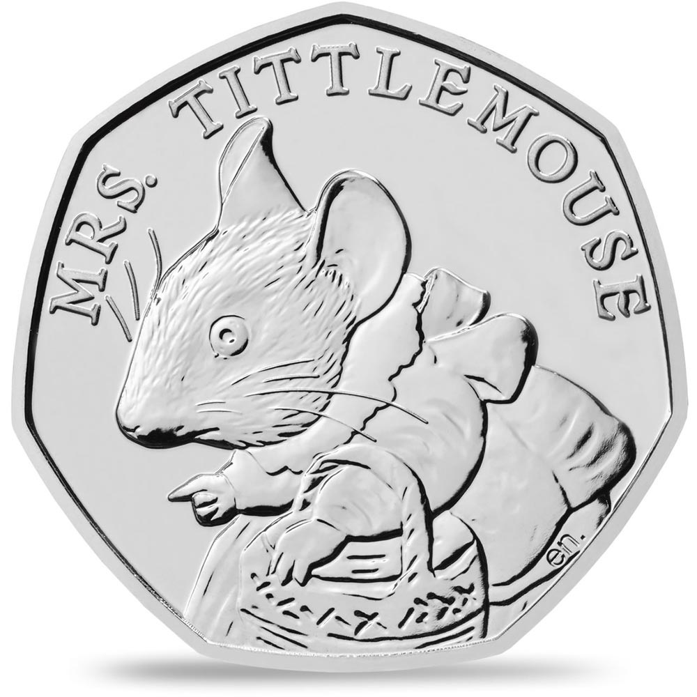 Image of 50 pence coin – Mrs. Tittlemouse™ | United Kingdom 2018