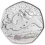 50 pence coin 40th Anniversary of The Snowman | United Kingdom 2018