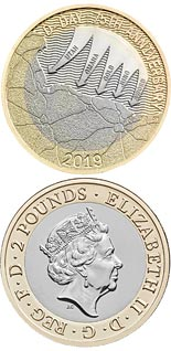 2 pound coin 75th anniversary of D-Day | United Kingdom 2019