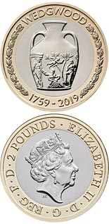 2 pound coin 260th anniversary of the foundation of Wedgwood | United Kingdom 2019