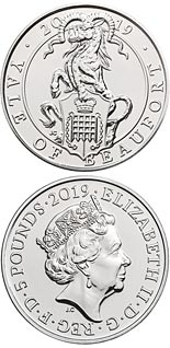 5 pound coin The Yale of Beaufort | United Kingdom 2019