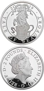 2 pound coin The Yale of Beaufort | United Kingdom 2019