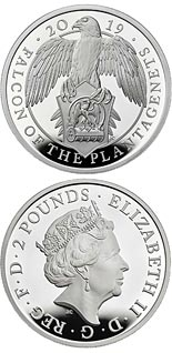 2 pound coin The Falcon of the Plantagenets | United Kingdom 2019