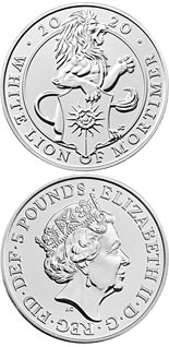 5 pound coin The White Lion of Mortimer | United Kingdom 2020