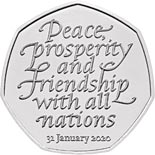 50 pence coin Withdrawal from the European Union | United Kingdom 2020
