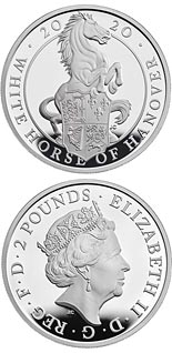 2 pound coin The White Horse of Hanover  | United Kingdom 2020