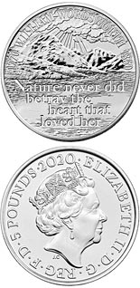 5 pound coin The 250th Anniversary of the Birth of William Wordsworth  | United Kingdom 2020