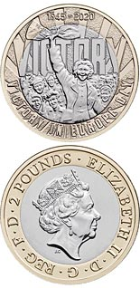 2 pound coin 75th Anniversary of VE Day | United Kingdom 2020
