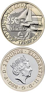 2 pound coin 250th Anniversary of Captain Cook's Voyage | United Kingdom 2020