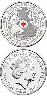 5 pound coin 150th anniversary of the British Red Cross | United Kingdom 2020