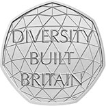50 pence coin British Diversity | United Kingdom 2020
