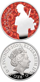 5 pound coin The Remembrance Day - 100 years since the burial of the Unknown Warrior | United Kingdom 2020