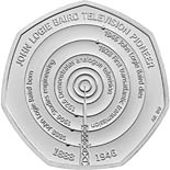 50 pence coin John Logie Baird | United Kingdom 2021