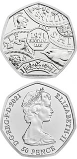 50 pence coin 50th Anniversary of Decimalisation | United Kingdom 2021