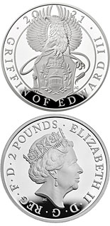 2 pound coin The Griffin of Edward III | United Kingdom 2021