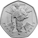 50 pence coin 150th Anniversary of the institution of the Victoria Cross | United Kingdom 2006