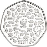 50 pence coin 50th anniversary of the foundation of the WWF | United Kingdom 2011