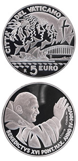 5 euro coin XXIII. World Youth Day in Sydney 2008  | Vatican City 2008