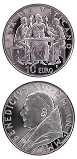 10 euro coin Year of the Eucharist  | Vatican City 2005