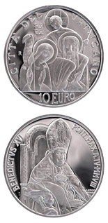 10 euro coin 41st World Day of Peace  | Vatican City 2008