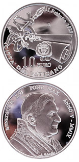 10 euro coin 80th Anniversary of Vatican City State  | Vatican City 2009