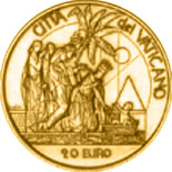 20 euro coin Moses Birth - The Ten Commandments  | Vatican City 2003