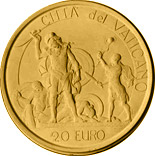 20 euro coin David and Goliath - The Judgement of Solomon  | Vatican City 2004