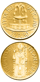 20 euro coin The Sacraments of Christian Initiation - Baptism  | Vatican City 2005
