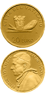 20 euro coin The Sacraments of Christian Initiation - The Eucharist  | Vatican City 2007