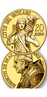 20 euro coin Masterpieces of Sculpture - The Good Shepherd - Laocoon group  | Vatican City 2009