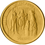 50 euro coin David and Goliath - The Judgement of Solomon  | Vatican City 2004